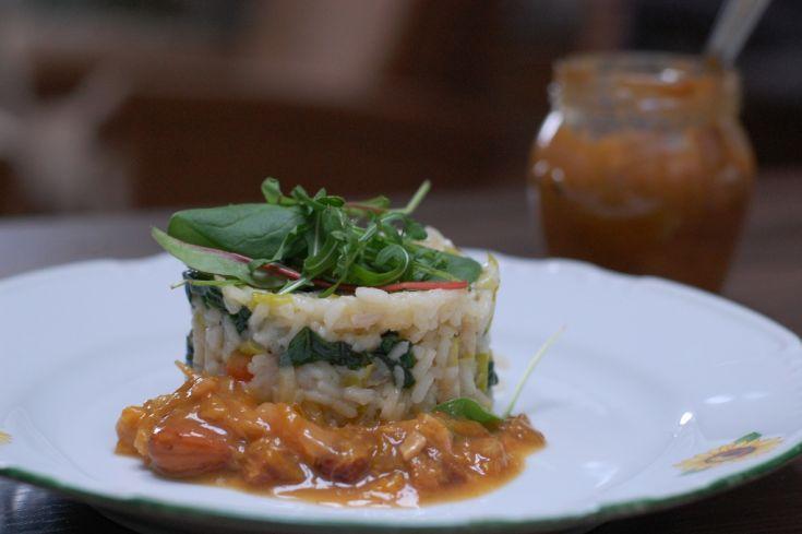Fotorecept: Morčacie rizoto so špenátom