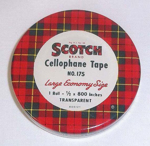 Vintage MidCentury Scotch Cellophane Tape Tin No. 175 by aestexas, $8.00
