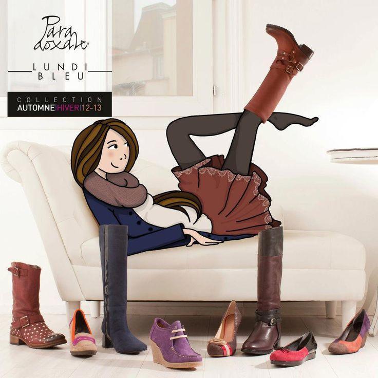 Plaquette pour la marque de chaussure Paradoxale