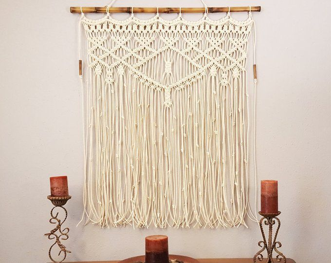Pdf Instructions Macrame Curtain Handmade Macrame Wall Hanging