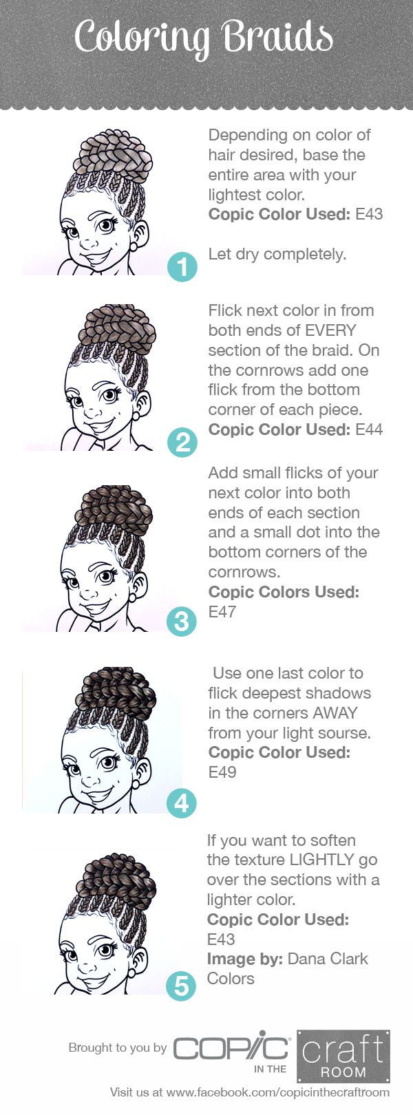 Copic tips for coloring Hair