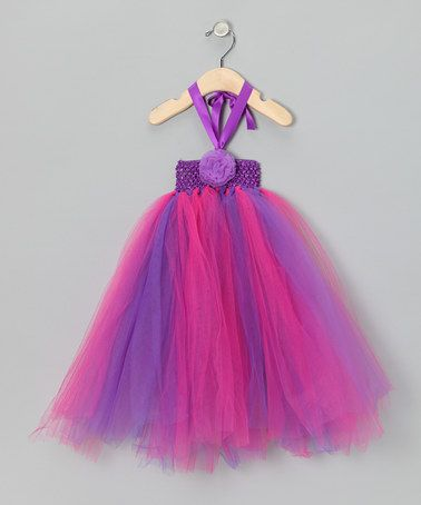 Take a look at this Purple & Fuchsia Tutu Halter Dress by Sparkle Adventure on #zulily today!
