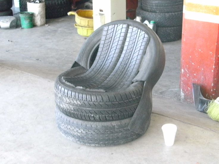 Simple Tire Chair Design I would totally spray paint these different colors