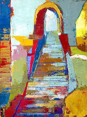 Jylian Gustlin, Landscapes. love the colors, texture and composition of Gustlin.