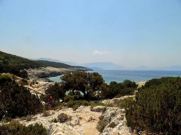 The azure sea provides a glorious backdrop as you walk near Tselentata on Cephalonia