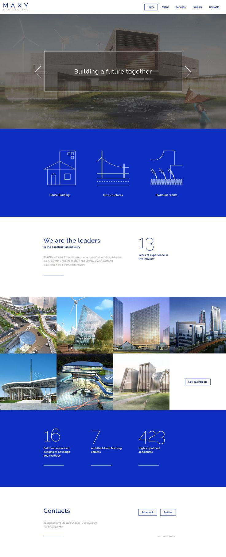 Construction WebSite Template http://www.templatemonster.com/website-templates/58107.html #html