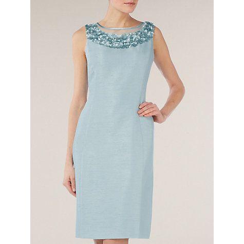Buy Jacques Vert Floral Detail Shift Dress, Blue Online at johnlewis.com