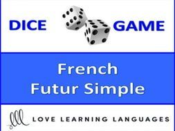 Dice Game - French Simple Future Tense- Jeu de Dés by jenniferlcrespin - Teaching Resources - TES