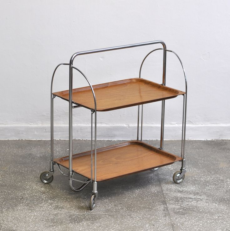 Midcentury serving trolley by Bremshey & Co DINETT, 1960's