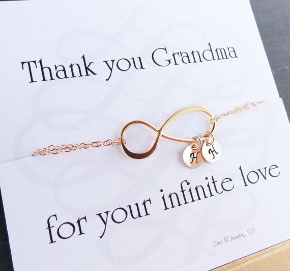 Personalized Grandmothers bracelet with Grandchildrens initials, Infinity Bracelet, Infinity jewelry, Figure eight, Family initials, on Etsy, $41.00