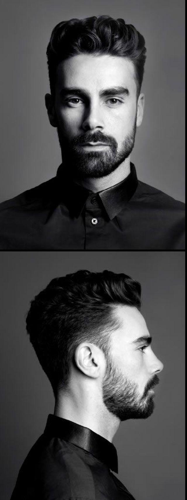 Homme élégant à la coupe de cheveux moderne