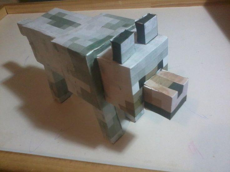 [PaperCraft] Minecraft Wolf 01 by luvini
