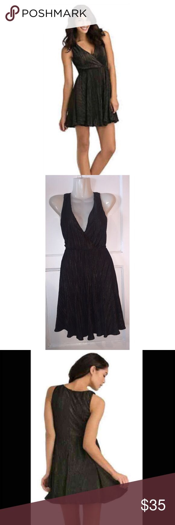 Kardashian Kollection Fit and Flare Dress In excellent condition. Worn once for photo. Has gold reflects, really pretty. Kardashian Kollection Dresses Mini