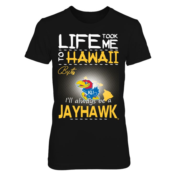 Kansas Jayhawks - Life Took Me To Hawaii T-Shirt, Click the GREEN BUTTON, select your size and style.  The Kansas Jayhawks Collection, OFFICIAL MERCHANDISE  Available Products:          District Women's Premium T-Shirt - $29.95 District Men's Premium T-Shirt - $27.95 Gildan Unisex T-Shirt - $25.95 Gildan Women's T-Shirt - $27.95 Gildan Unisex Pullover Hoodie - $49.95 Next Level Women's Premium Racerback Tank - $29.95 Gildan Long-Sleeve T-Shirt - $33.95 Gildan Fleece Crew - $39.95 Gildan…