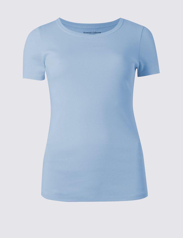 Базовая футболка слим с коротким рукавом | Marks & Spencer