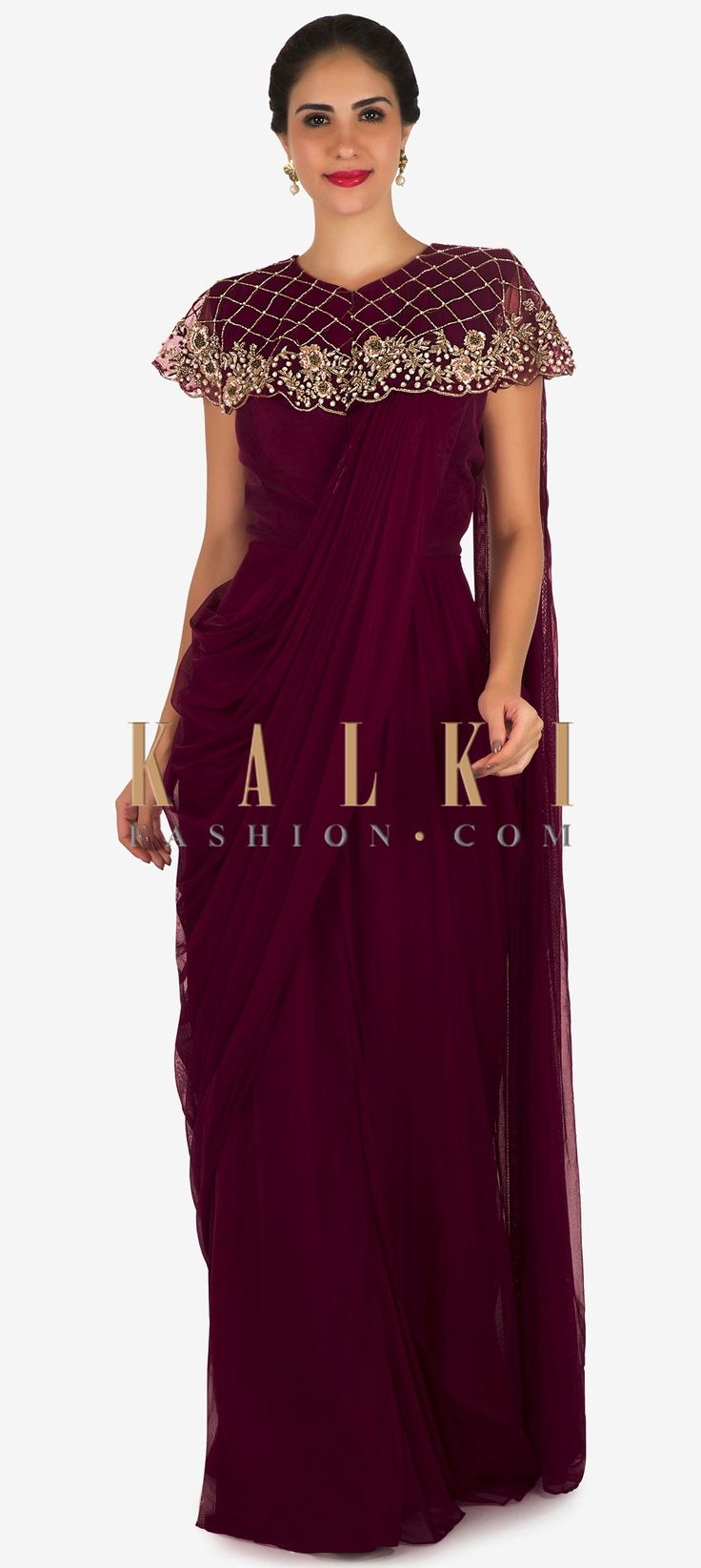 41 best saree cum gown images on Pinterest | Indian designers ...