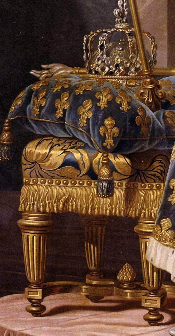 Portrait of Louis XV (Detail), ~ Louis Michel van Loo