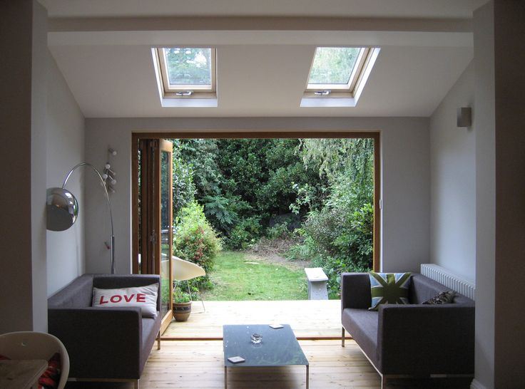 A new sitting space added to the rear of the kitchen in a terraced property in Leytonstone.