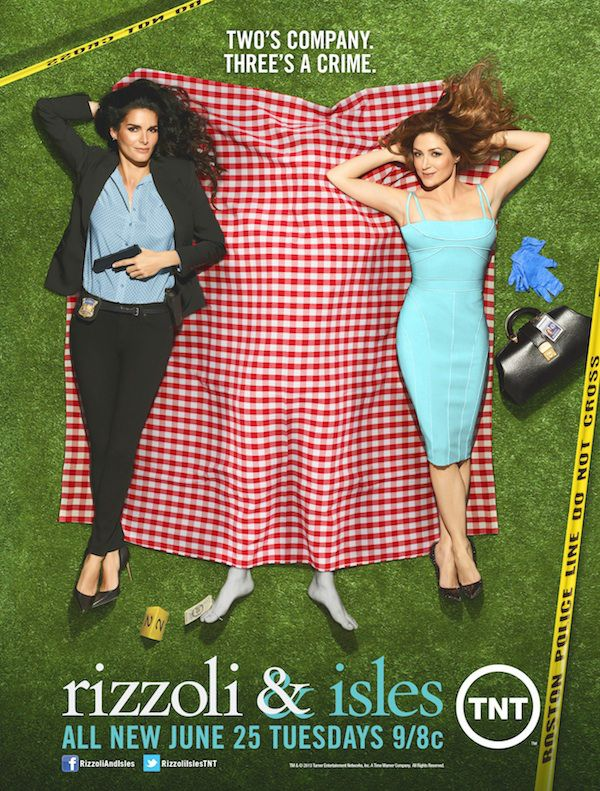 Life's a picnic for these two best friends. Some days. Season Four of Rizzoli & Isles.