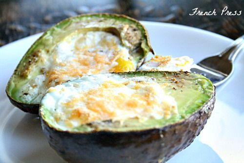 Eggs baked in an Avocado - Heather's French Press