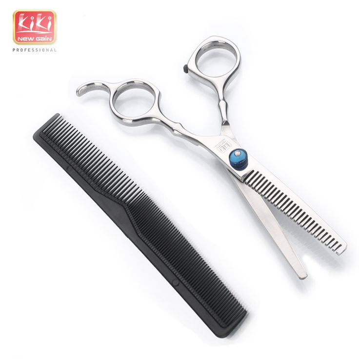 KIKI beauty world.Hair Thinning Scissors.6.0 inch.Professional barber scissors with comb.HRC50-52.
