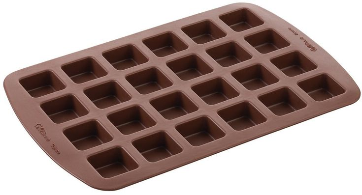Amazon.com: Wilton 2105-4923 24-Cavity Silicone Brownie Squares Baking Mold: Silicone Bakeware: Kitchen & Dining