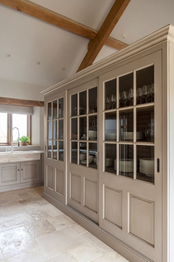 Glazed pantry cabinets in a kitchen designed by Artichoke  Kitchen  French Country  French Provincial  Rustic by Artichoke