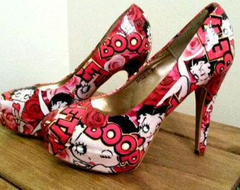 Tinkerbell floral customised shoes by SHUmaze on Etsy