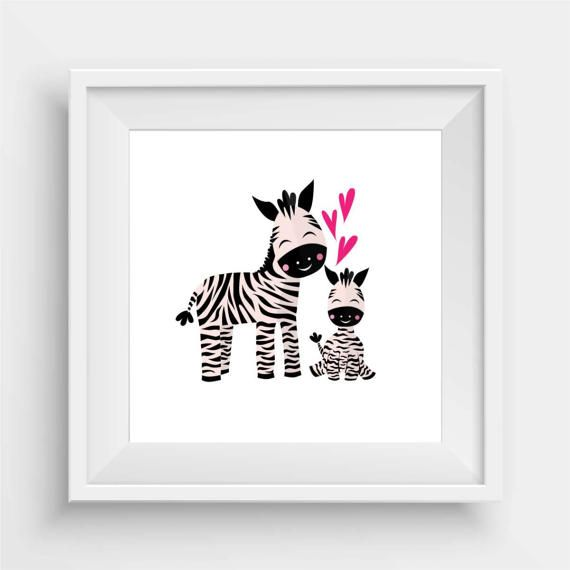 Zebra Baby and Papa by agirladrift on Etsy
