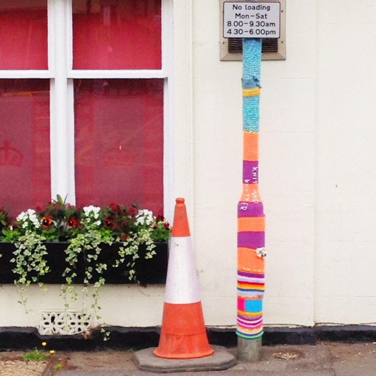 #Yarn #Bombing #YarnBombing by The Guerila #Knitters at The Gilliangladrag Fluff-a-torium