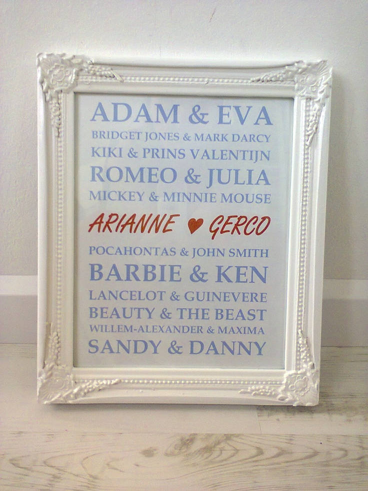 Made one for Jessica & Michael. This is such a awesome gift. Thanks for the idea <3