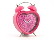 Pink Heart Glitter Clock from Mr Price Home