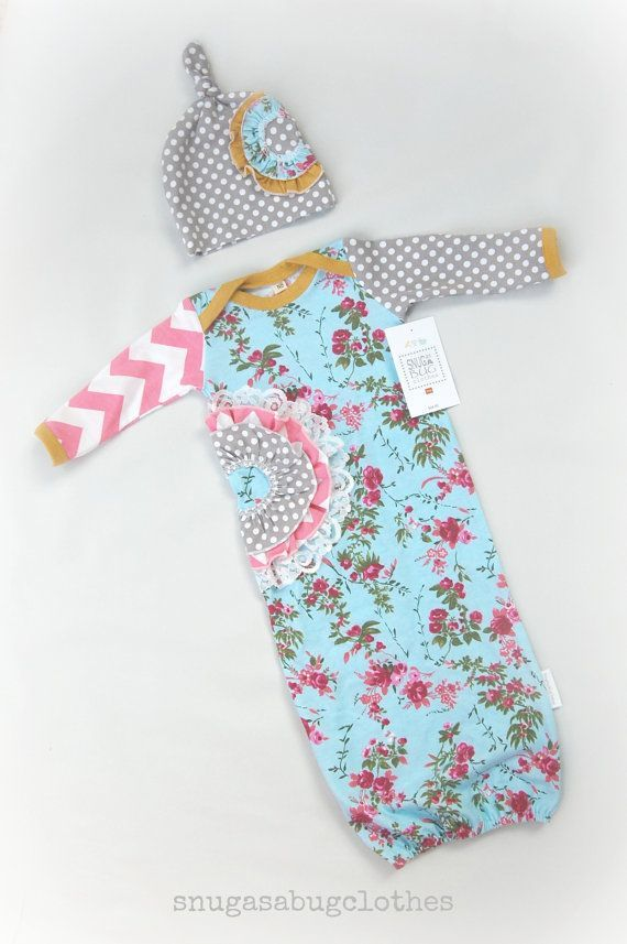Vintage Inspired Baby Girl Gown Set Coming by SnugAsaBugClothes, $48.00