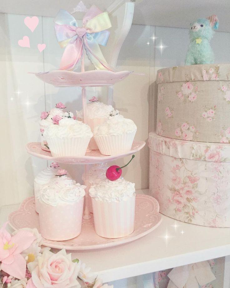 Fake cupcakes home decor