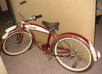 red antique schwinn bike