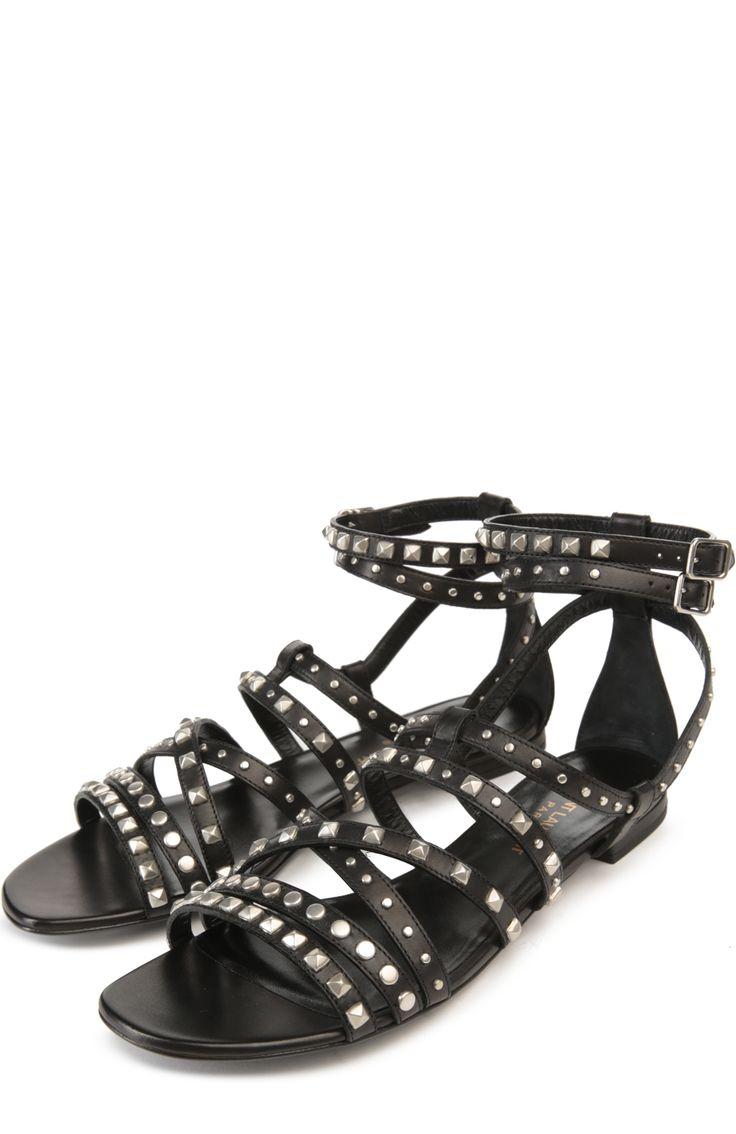 Женские черные сандалии nu pied Saint Laurent, арт. 416398/BZC00 купить в ЦУМ   Фото №2
