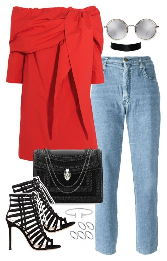 """""""Untitled #836"""" by jennifer1297 ❤ liked on Polyvore featuring Moschino, Isa Arfen, Bulgari, Gianvito Rossi, Linda Farrow, Humble Chic and ASOS"""