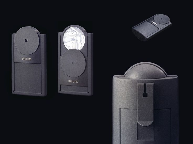 Pocket lamp designed by Alfred van Elk for Philips centennial collection. With sliding cover switch. iF design award. Co-design Antonio Atjak.