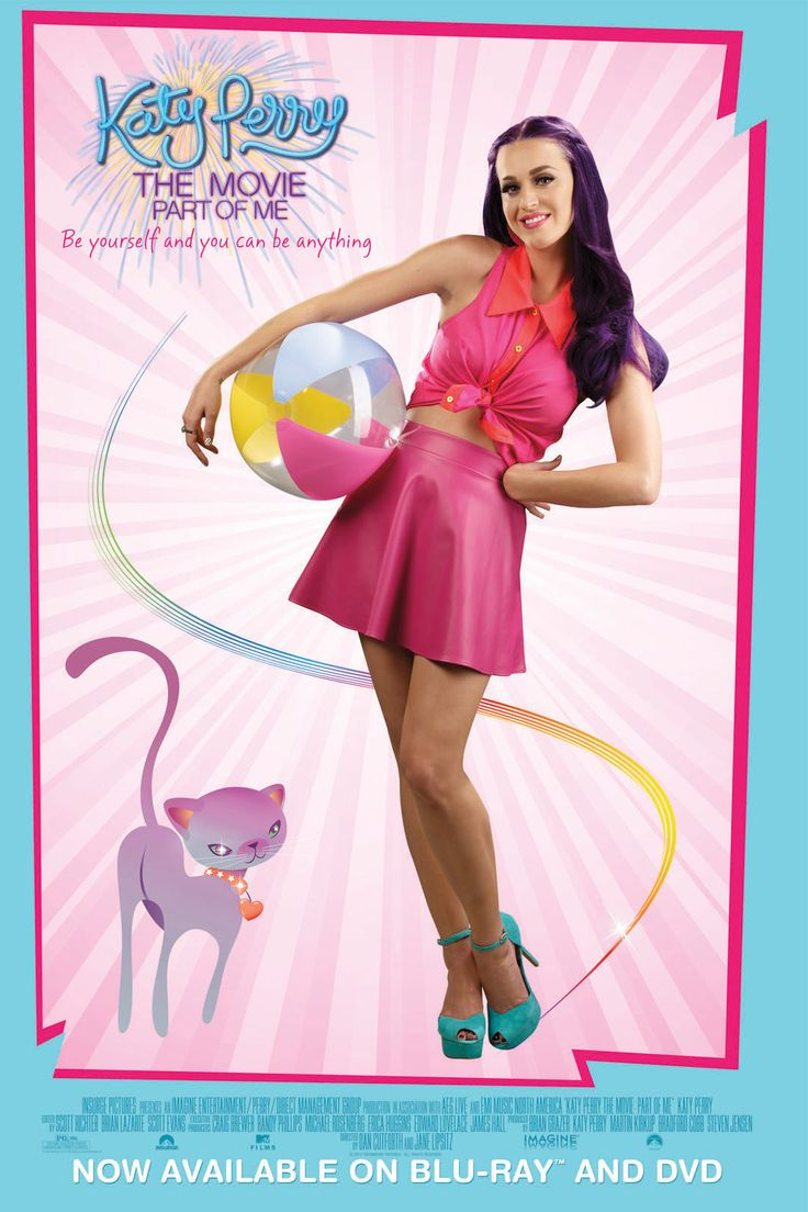 """Get this FREE poster with your purchase of """"Katy Perry: Part of Me"""" on Blu-ray & DVD today!"""