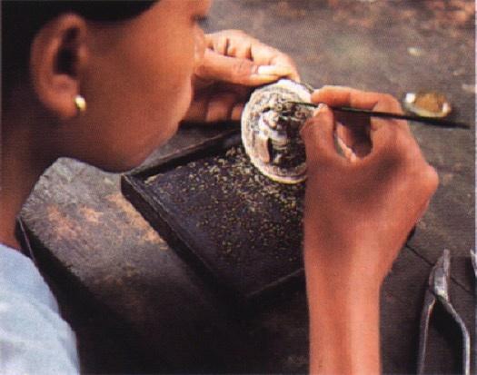 Yogya silver workshop in Indonesia