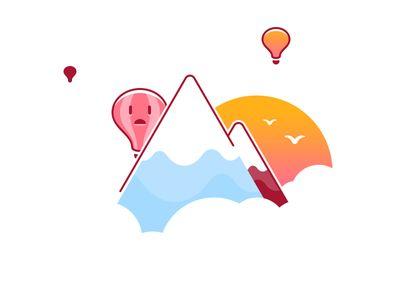 Shy Hot Air Balloon