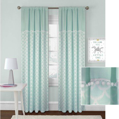 Better Homes And Gardens Scallops With Poms Curtain Panel