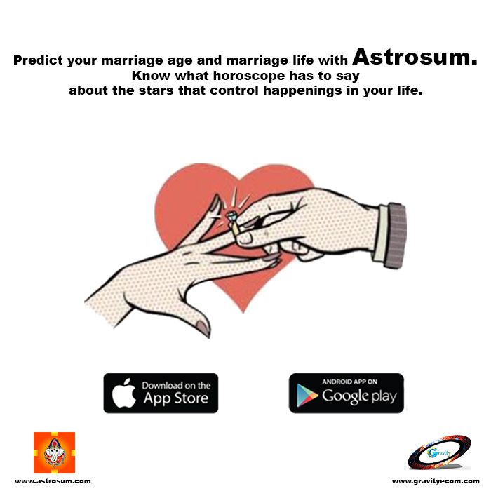 Predict your marriage age and marriage life with #Astrosum. Know what #horoscope has to say about the #stars that control happenings in your #life. https://play.google.com/store/apps/details?id=com.gravity.astrosum&hl=en