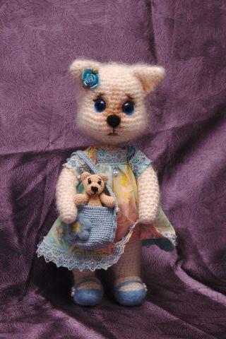 Fiocco di neve del gatto con il giocattolo Mishutka - mio lavoro a maglia - Gallery - fan amigurumi (giocattoli a maglia)