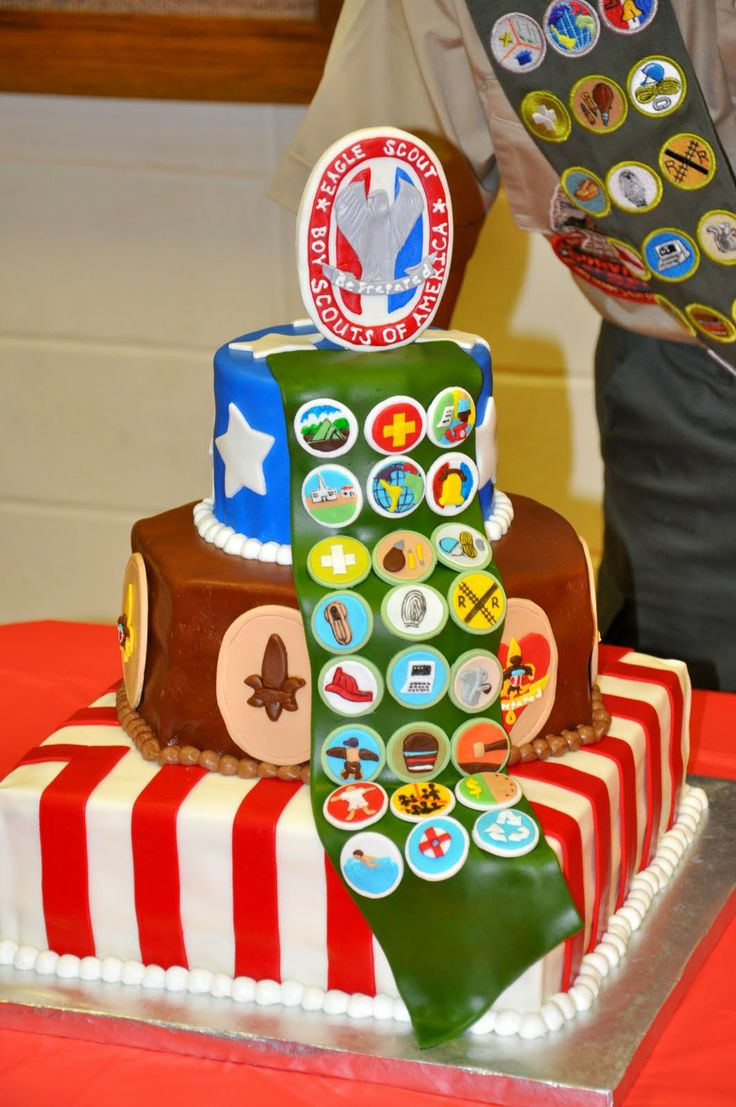 Girl scout scrapbook ideas - Sweet Cakes Eagle Scout Cake
