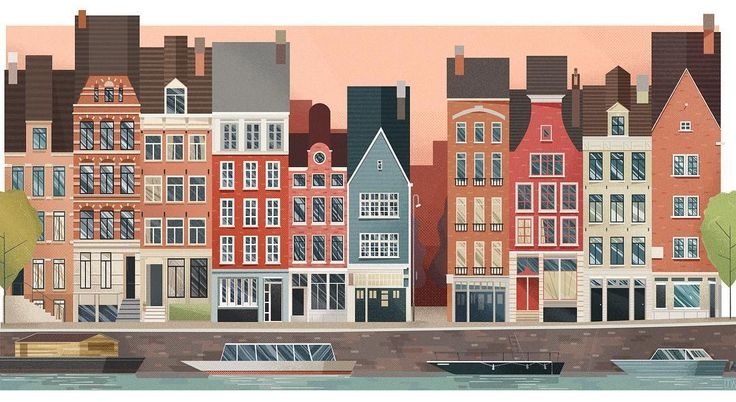 137 отметок «Нравится», 4 комментариев — Jelly London (@jellylondon) в Instagram: «Amsterdam by @jw_illustration 👌»