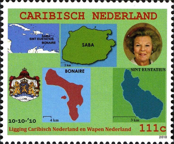 Stamp: Bonaire, Sint Eustacius, Saba (Caribbean Netherlands) Mi:BQ 1,Sn:BQ 1,Sg:BQ 1