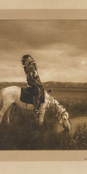 'An Oasis in the Badlands- Sioux' by Edward Curtis