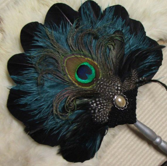 Renaissance Feather Fan Custom Listing for StableBabe