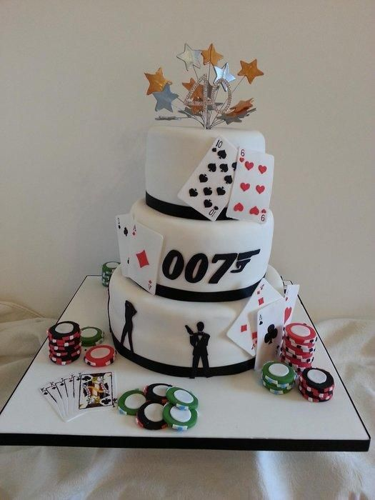 25 best ideas about james bond cake on pinterest shirt for Decoration 007